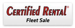 Certified Rental Fleet Sale