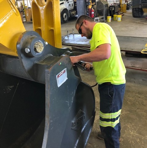 Construction equipment repair